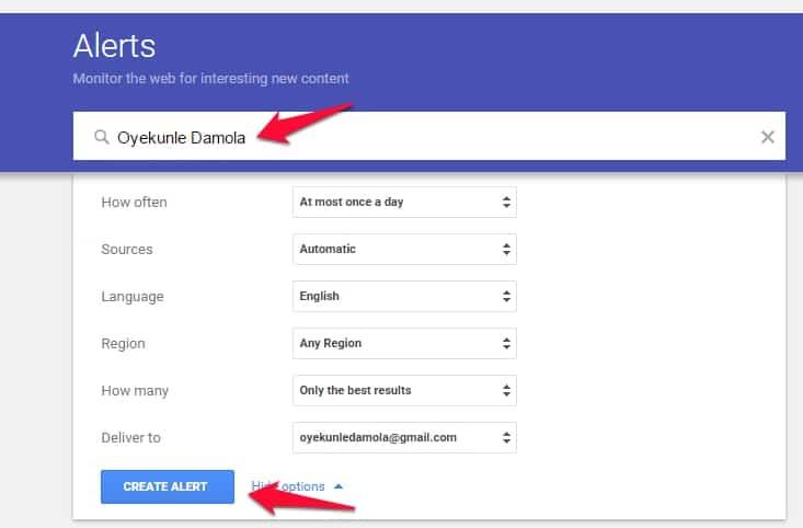google alerts brand management