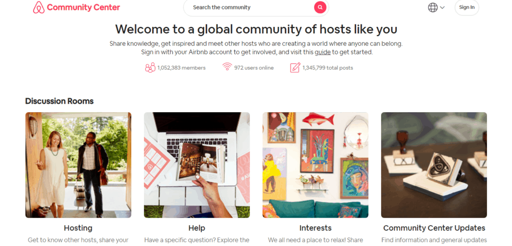 AIRBNB online community for getting more online reviews