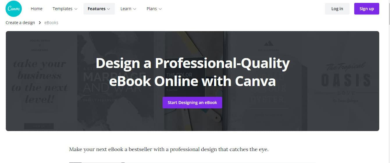 canva for creating ebook cover for digital products