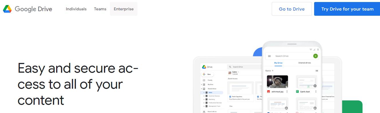 google drive logo design for a website homepage