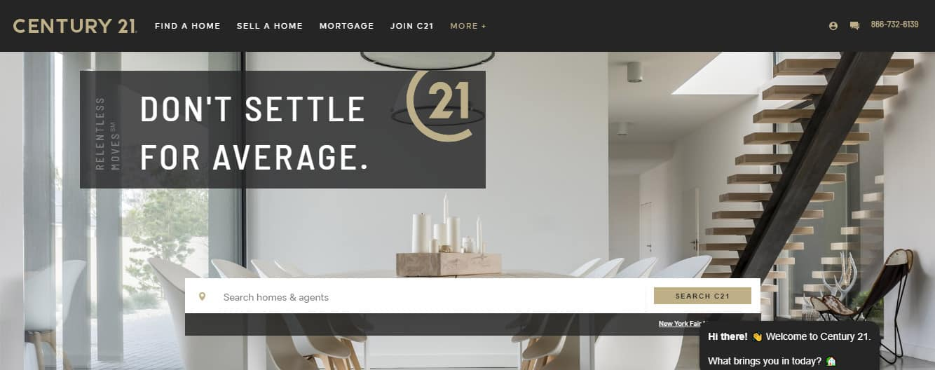 navigation for the elements of a website homepage