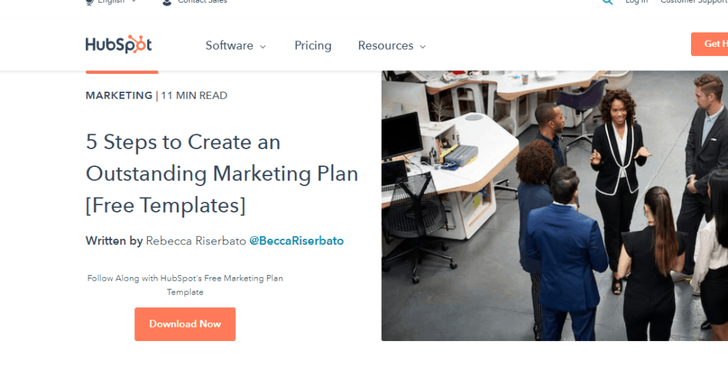 Hubspot's free templates for building email list