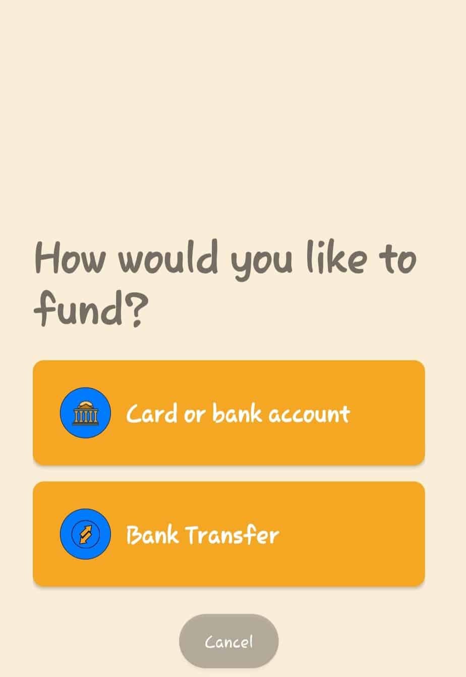funding account for barter virtual dollar card