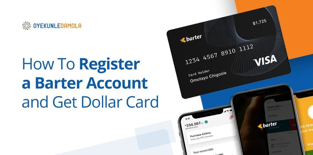 how to register a barter account and get a dollar card