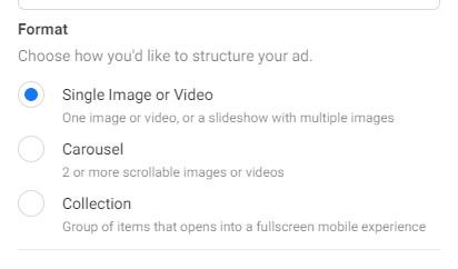 ad creative when running Facebook ads